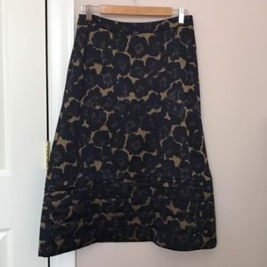Banana Republic Floral Midi Skirt